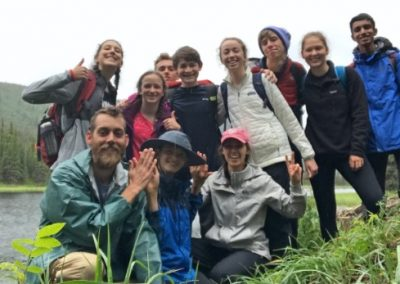 Students hiking in Canada