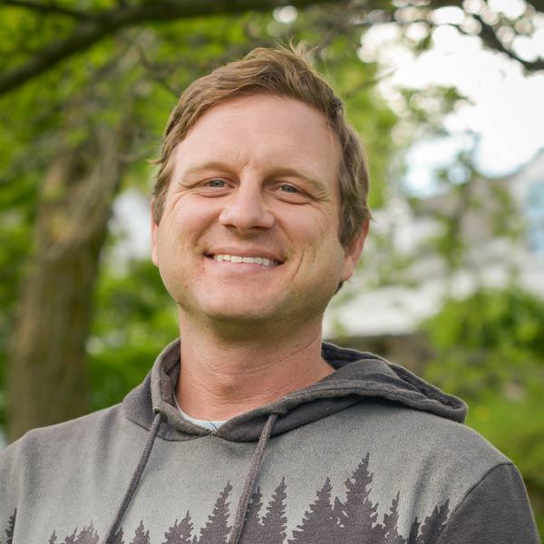 Outdoor portrait of leader Drew