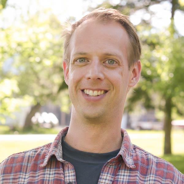 Outdoor portrait of leader Dan